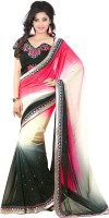 Welcome Fashion Embroidered Bollywood Handloom Viscose Saree(Multicolor)