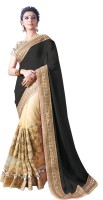 Chirag Sarees Embroidered Bollywood Georgette Saree(Black)