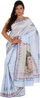 Alankrita Printed, Embellished, Floral Print Kanjivaram Silk Blend, Dupion Silk Saree(Multicolor, Blue, Grey)