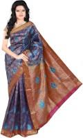 Roopkala Silks Embellished Dharmavaram Brocade Saree(Blue)