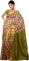 Rajshri Fashions Woven Kanjivaram Pure Silk Saree(Green)