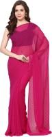 Aksara Self Design Daily Wear Chiffon Saree(Red)