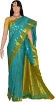 Lakshmi Lifestyle Self Design Kanjivaram Handloom Silk Saree(Green)