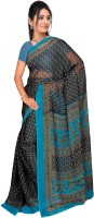 Jiya Self Design, Printed Fashion Chiffon Saree(Multicolor, Light Blue)