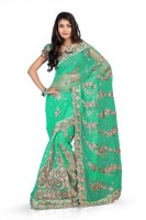 Chirag Sarees Self Design Fashion Net Saree(Light Green)