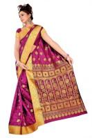Varkala Silk Sarees Woven Kanjivaram Art Silk, Jacquard, Brocade Saree(Pink)