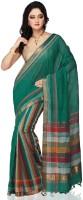 Devi Handlooms Woven Mangalagiri Handloom Cotton Blend Saree(Light Blue)