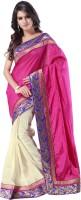 Weavedeal Embellished, Self Design Banarasi Banarasi Silk Saree(Pink)