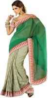Meghdoot Graphic Print Fashion Cotton Blend Saree(Multicolor)