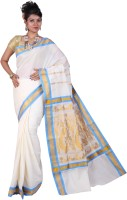 Fashionkiosks Self Design Balarampuram Handloom Cotton Saree(Multicolor)
