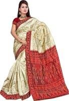 Roopkala Silks Woven Pochampally Handloom Pure Silk Saree(Multicolor)