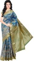 Roopkala Silks Embellished Dharmavaram Brocade Saree(Green)