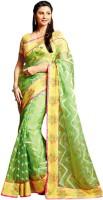 Vishal Printed Fashion Brasso Saree(Green)