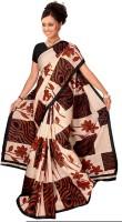 Khoobee Printed Fashion Cotton Blend, Polycotton Saree(Multicolor)