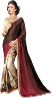 Indianbeauty Printed, Solid Bollywood Satin, Pure Chiffon Saree(Multicolor)