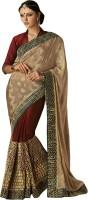 Melluha Embroidered Fashion Jacquard Saree(Gold)