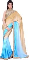 Florence Embroidered Fashion Chiffon Saree(Blue)