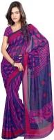 Khoobee Printed Fashion Poly Georgette Saree(Pink)