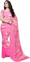 Suvastram Printed Fashion Cotton Blend Saree(Pink)