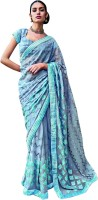 Vishal Self Design Fashion Chiffon Saree(Grey)