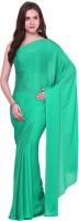 Aksara Self Design Daily Wear Crepe Saree(Green)