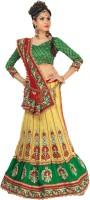 Chirag Sarees Self Design Lehenga Saree Net Saree(Multicolor)
