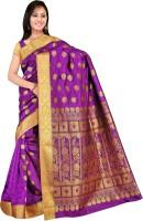 Varkala Silk Sarees Woven Kanjivaram Art Silk, Jacquard, Brocade Saree(Purple)