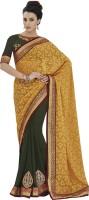 Indian Women By Bahubali Self Design Fashion Jacquard Saree(Multicolor)