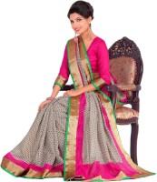 Sunaina Printed Fashion Raw Silk Saree(Multicolor)
