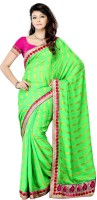JTInternational Self Design Fashion Jacquard Saree(Green)
