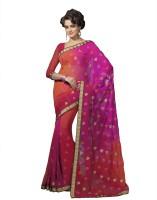 Suvastram Self Design Fashion Poly Georgette Saree(Multicolor)