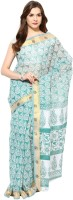 Fostelo Self Design Daily Wear Cotton Saree(Grey)