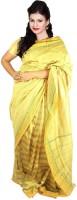 Javuli Woven Madurai Handloom Dupion Silk Saree(Yellow)