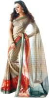 Sunaina Printed Fashion Synthetic Chiffon Saree(Multicolor)