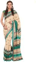 Kataan Bazaar Embroidered Fashion Handloom Tussar Silk Saree(Beige)