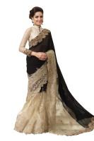Chirag Sarees Self Design Fashion Georgette Saree(Black)