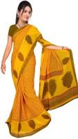 Jiya Self Design Fashion Poly Georgette Saree(Yellow)