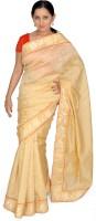 Jagadamba Self Design Fashion Silk Saree(Gold)
