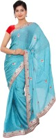 Shri Narayan Fashions Embellished Fashion Handloom Jacquard Saree(Blue)