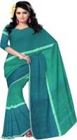 Javuli Woven Chettinadu Handloom Cotton Saree(Green)