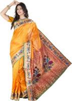 Ishin Woven Kanjivaram Art Silk Saree(Yellow)