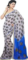 Shaily Embroidered Fashion Georgette Saree(Multicolor)