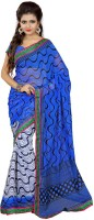 Patankar Fab Printed Bollywood Synthetic Chiffon Saree(Multicolor)