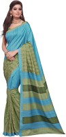 Aesha Embroidered Fashion Tussar Silk Saree(Blue)