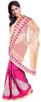 Kataan Bazaar Self Design Banarasi Net Saree(Pink)