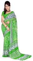 Cenizas Polka Print Fashion Chiffon Saree(Multicolor)