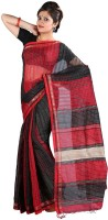 Hawai Striped Fashion Handloom Cotton Saree(Multicolor)