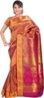 Varkala Silk Sarees Floral Print Kanjivaram Silk Saree(Red)