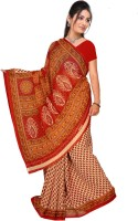 Khoobee Self Design, Printed Fashion Poly Georgette Saree(Red)
