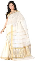 Vastrakala Solid Fashion Cotton Saree(Beige)